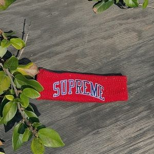 authentic SUPREME headband w/sequence detailing